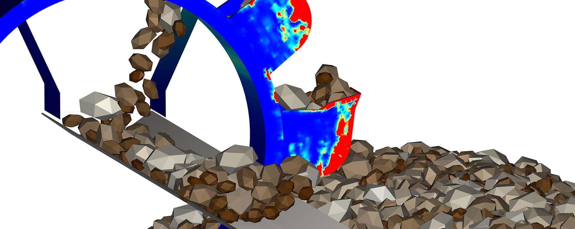 Моделирование поведения частиц в Ansys Rocky